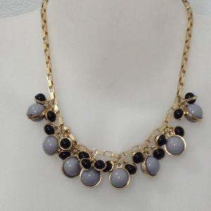 Banana republic gold gray black necklace new