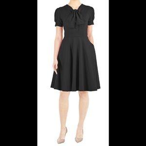 eshakti Dresses & Skirts - New Eshakti Black Retro Fit & Flare Dress 18W
