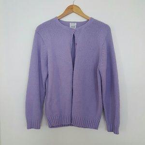 Sadie & Sage Sweaters - Bulky, Sweater Knit Lavender Cardigan
