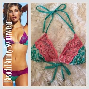Beach Bunny Other - NWT Beach Bunny Bikini 👙 TOP  Turquoise Cheetah