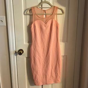 NWT peach BEBE midi dress sexy summer mesh m 6 8