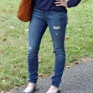 Loft distressed skinny jeans