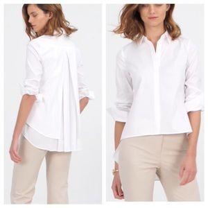 White House Black Market Tops - WHBM white poplin shirt with split back