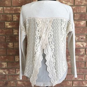 Jolt Sweaters - Beautiful Detail Sweater in Cream