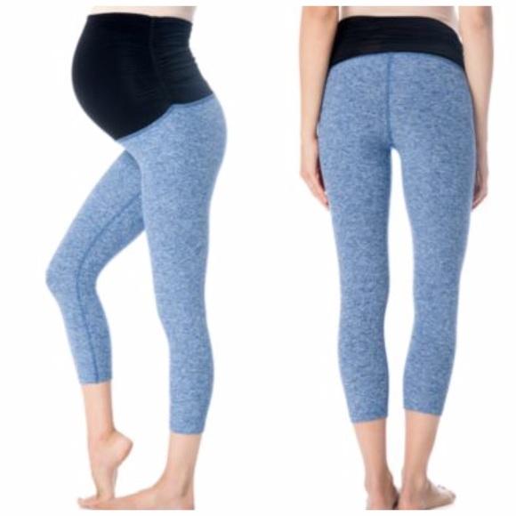 9e96f490cddaac Beyond the Bump Pants - Beyond the Bump blue maternity capri leggings