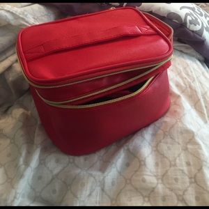 Red Cosmetics Bag