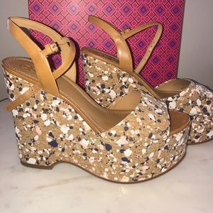 9b5f3b7c5504 Tory Burch Shoes - Tory burch solana confetti wedge!🎉