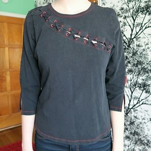Tripp nyc Tops - Tripp NYC laced front festival goth A6