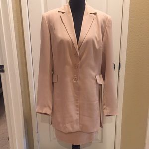 Like new, Botique Europa Beige Jacket & Skirt Suit