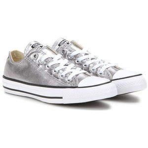 Silver Metallic Converse   Poshmark