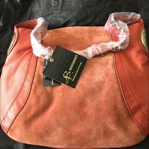b. makowsky Handbags - B Makowsky orange hobo purse