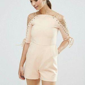 lavish alice Dresses & Skirts - Lavish Alice lace up Playsuit