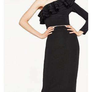 Zara Dresses & Skirts - Ribbed Midi Pencil Skirt