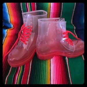 Colors of California Shoes - World's coolest clear rain boots sz EU 38 US 7!