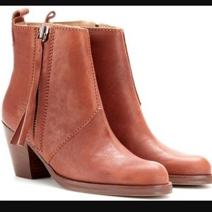 Acne Shoes - Acne pistol boot in natural