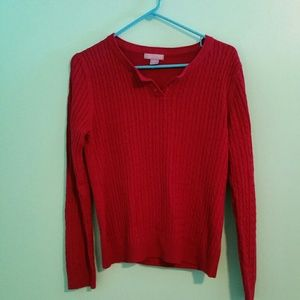 Laura Scott Tops - NWOT Laura Scott Red Button Sweater
