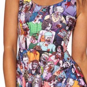 Blackmilk Dresses & Skirts - Black Milk Zombie Nation Reversible Skater Dress