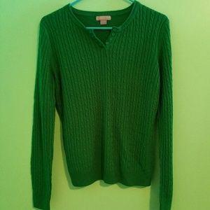 Laura Scott Tops - NWOT Laura Scott Green Button Sweater