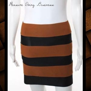 Pleasure Doing Business Dresses & Skirts - PLEASURE DOING BUSINESS Tawny/Black Banded Skirt