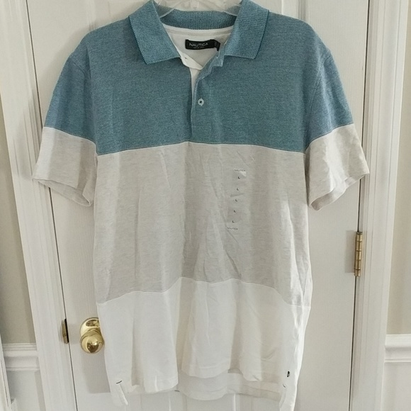b1d08e2d9bb Nautica Shirts | Mens Pique Colorblock Polo Shirt Large | Poshmark