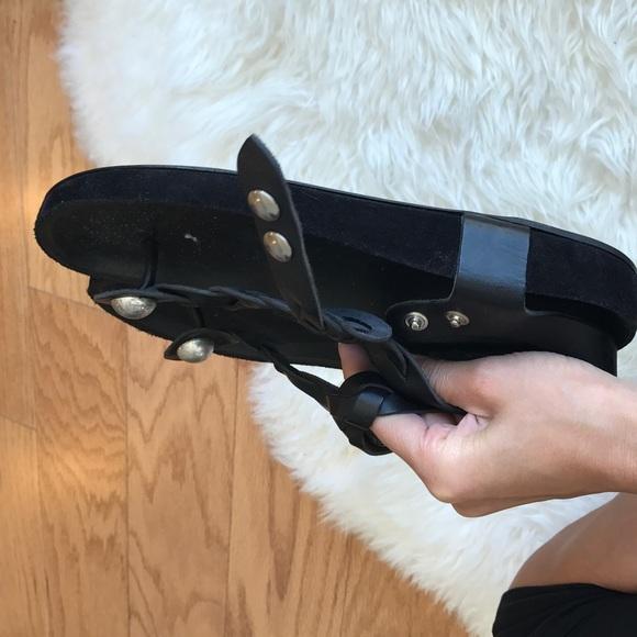 Isabel Marant Shoes - Isabel marant black leather brook sandals