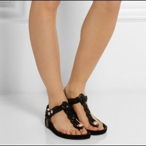 Isabel Marant Shoes - Isabel marant black leather brook sandals
