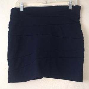 Honey Punch Dresses & Skirts - Honey Punch Navy Blue Skirt