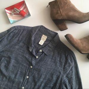 J. Crew chambray perfect shirt size 12