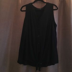 Tops - Black tank with tie on bottom