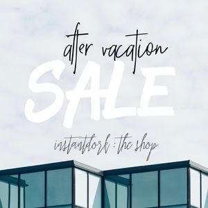 AFTER VACATION SALE! : 15% off bundles