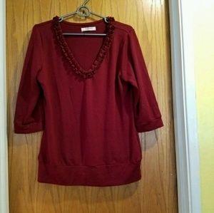 Romy Sweaters - Red Romy Sweater