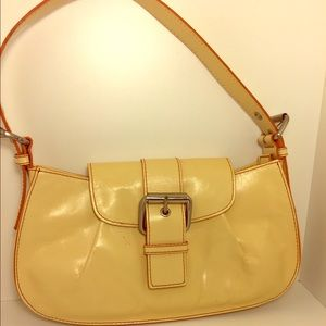 Hype Handbags - Hype Camel Yellow Leather Small Shoulder Bag