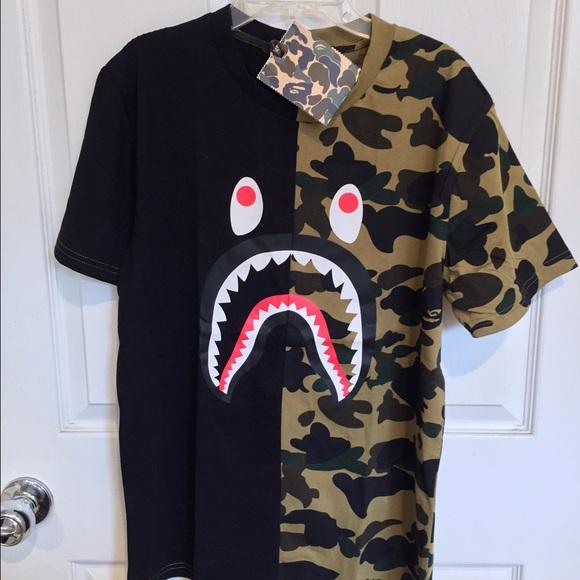 ee651e30c1e1 BAPE Men s T-Shirt. two color camo.