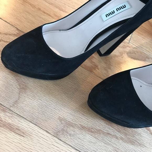 Miu Miu Shoes - Miu miu black suede curved heels