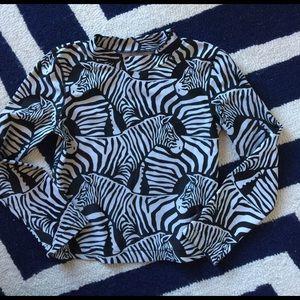 Gap zebra rash guard SZ 6/7