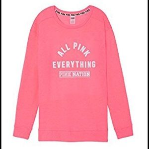 VS PINK All Pink Everything Campus Crew