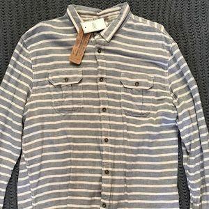 Jachs Other - 🎉NWT🎉 Men's XXL Blue-Grey Striped Shirt