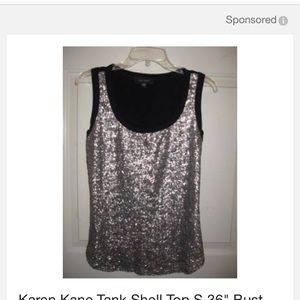 Karen Kane Tops - karen kane black sparkly top