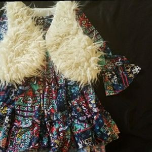 Rare Editions Other - RARE EDITIONS FUR VEST AND DRESS 24M