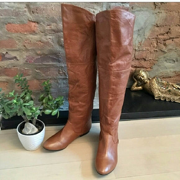 d7dfa10b04b Chinese Laundry Shoes - Chinese Laundry Over Knee Cognac Boots