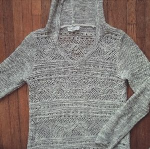 Cloud 9 Sweaters - Black and white stitched sweater!