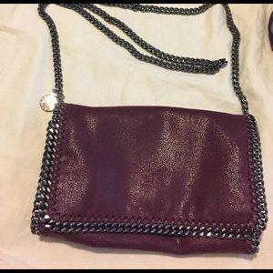 Stella McCartney Handbags - Stella McCartney burgundy crossbody Falabella