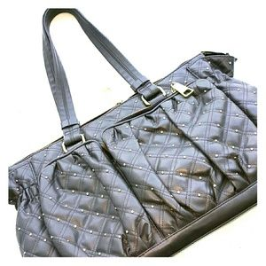 2xist Handbags - DIAPER BAG GREY WITH GOLD STUDS