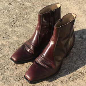 Other - Men's Leather Burgundy Western Zip-Up Boot