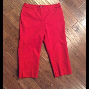 Red dress capri pants size fits like a 10, but 12