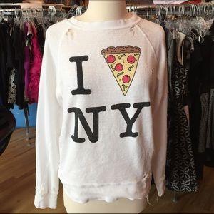 Wildfox XS I heart pizza NY shirt