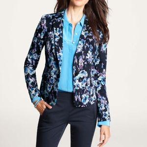 Ann Taylor Jackets & Blazers - Ann Taylor Moody Blue Floral Jacket