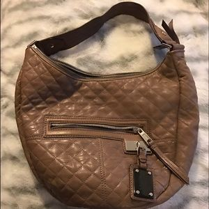 L.A.M.B. Handbags - L.A.M.B quilted beige leather bag w/ dust bag