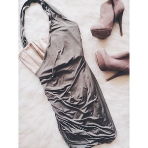 bebe Dresses & Skirts - • bebe • Forest Green Dress w/ Tan Corset