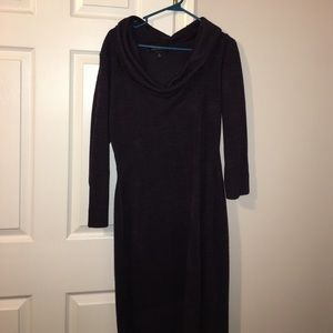 connected apparel Dresses & Skirts - Purple Sweater Dress.. never been worn/ no tags